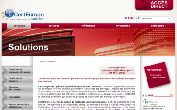 Solutions Certeurope